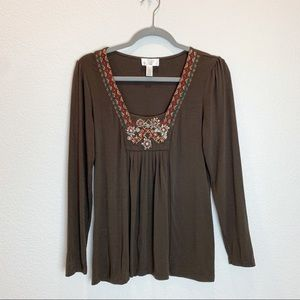 LOFT Petites Long Sleeves Blouse Size MP